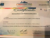 Award in the X International Congress of Phonoaudiology